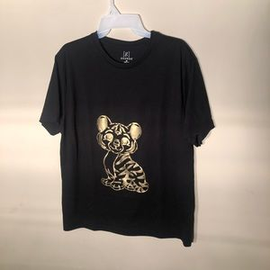 Gold and Black Baby Tiger Graphic Tee